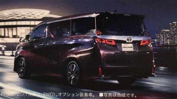 Bocor! Begini Tampang Toyota Vellfire Baru