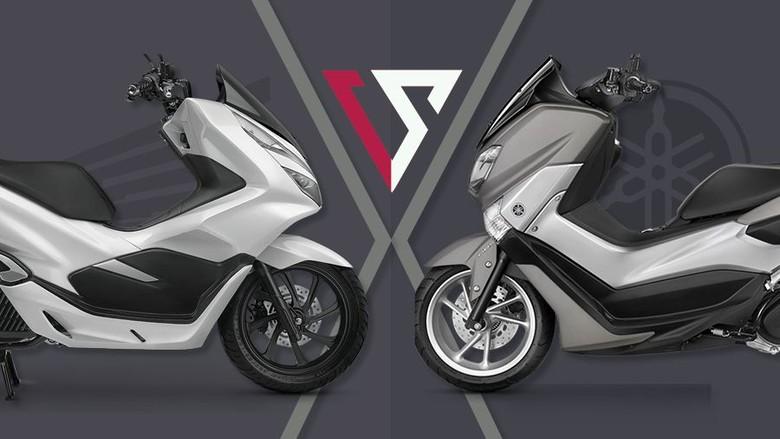 Otographics Honda PCX Versus NMAX. Foto: Andhika Akbarayansyah