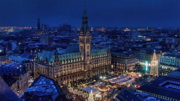 Hamburg saat malam hari