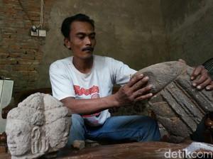 Warga Jombang Temukan Arca Dewa Brahma Berkepala Empat