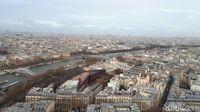 Panorama dari atas Menara Eiffel (Afif Farhan/detikTravel)