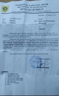 Contoh Surat Resmi Dari Kepala Desa Ke Camat