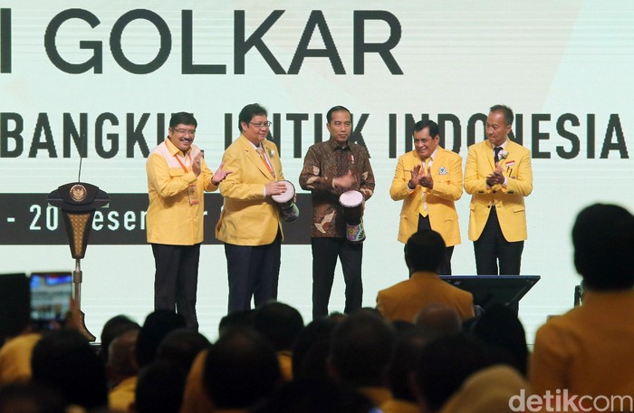 Foto ilustrasi, tidak berhubungan dengan berita: Presiden Jokowi saat membuka Munaslub Partai Golkar. (Ari Saputra/detikcom)