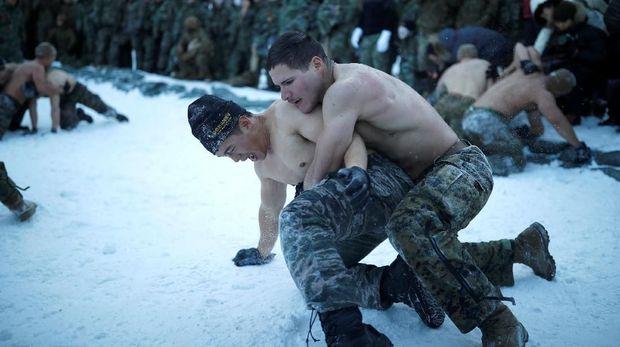 Ilustrasi latihan militer AS-Korsel.