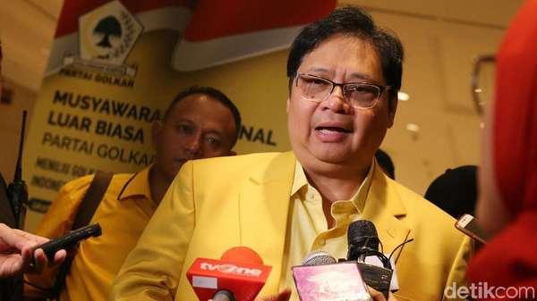Tutup Munaslub Golkar, Airlangga Sampaikan Salam dari Novanto