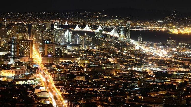 Kota San Fransisco di AS saat malam