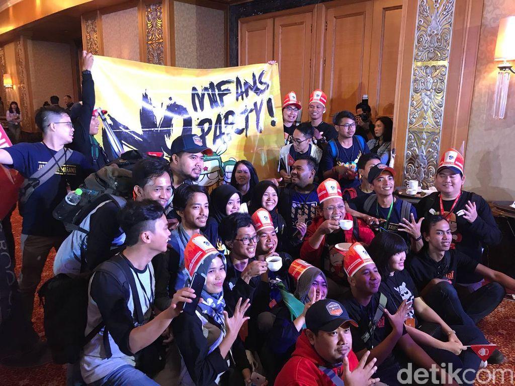 CEO Xiaomi Lei Junsejatinya datang ke Jakarta untuk meluncurkan Xiaomi Redmi 5A. Peluncuran ini disambut meriah oleh para Mi Fans. Foto: Adi Fida Rahman/detikINET