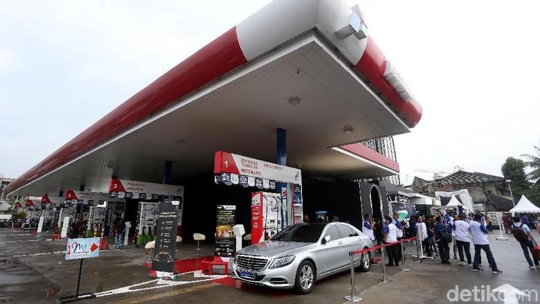 SPBU yang menjual Pertamax Turbo (Foto: Rengga Sancaya)