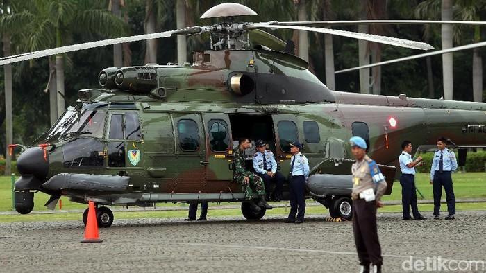 Foto ilustrasi helikopter TNI. (Rengga Sancaya/detikcom)