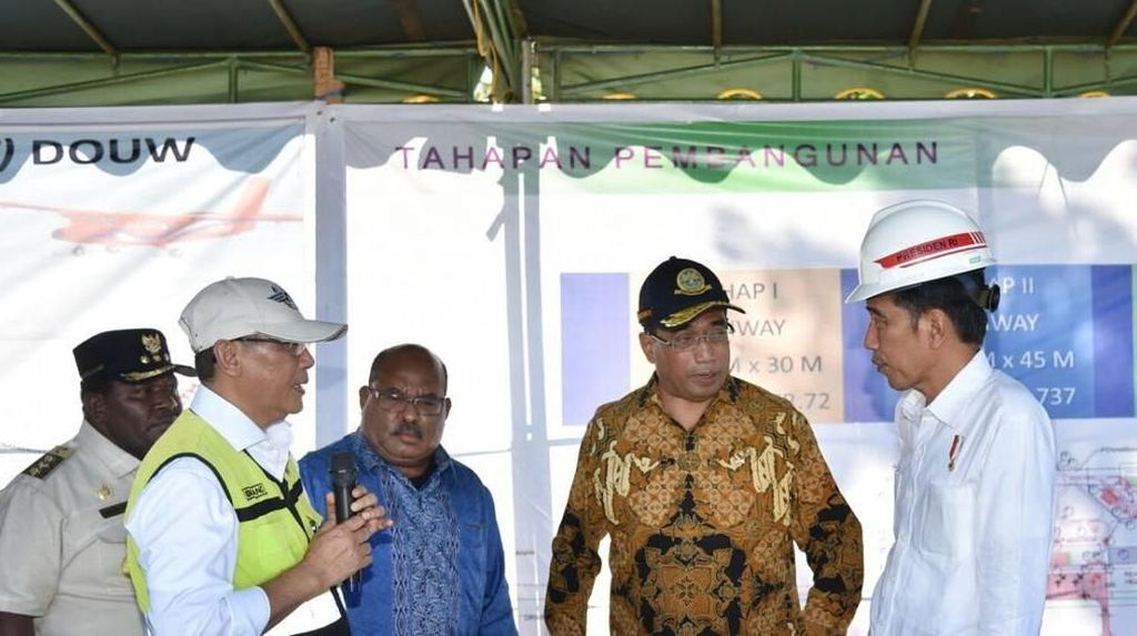 Proyek Pengembangan Bandara Nabire Rampung Akhir 2019