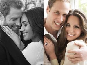 5 Perbedaan Foto Pertunangan Pangeran William-Kate dan Harry-Meghan