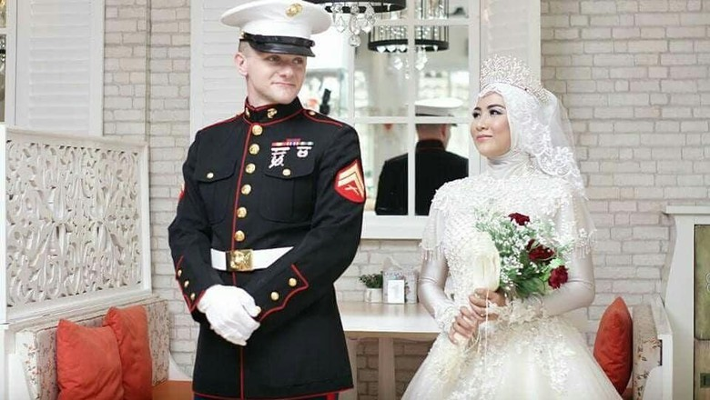 Viral! Wanita Sumsel Dipinang Marinir Ganteng dari Amerika Serikat