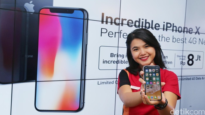 Peluncuran iPhone X di Indonesia. Foto: Ari Saputra