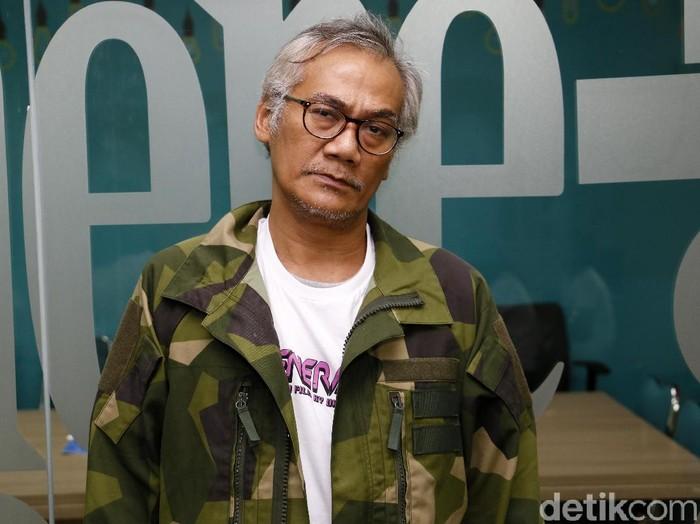 Tio Pakusadewo saat berkunjung ke kantor detikcom.