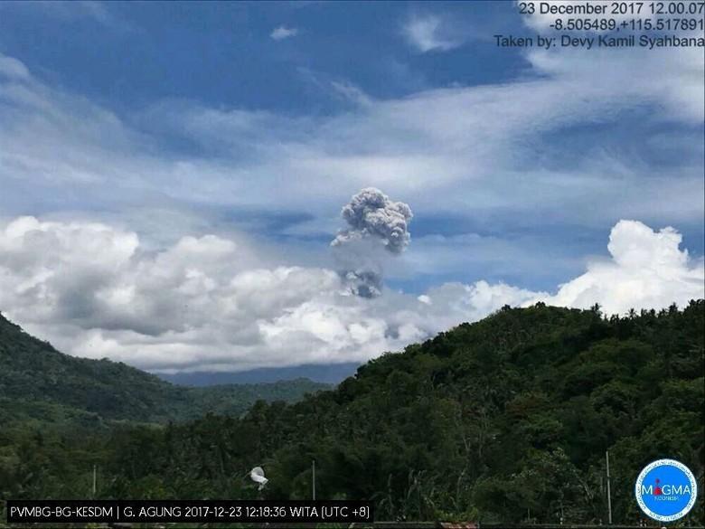 Gunung Agung Kembali Erupsi, Sempat Semburkan Asap 2,5 Km