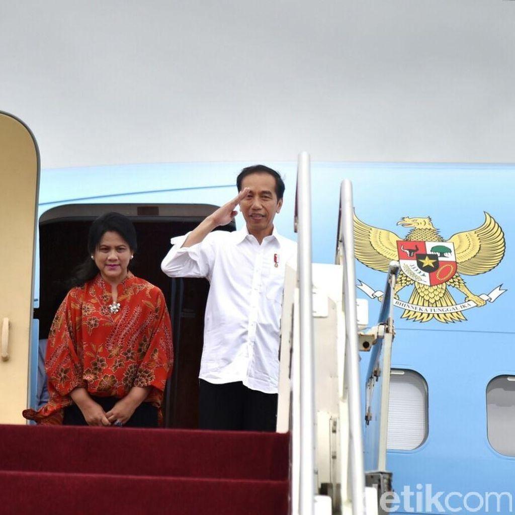 Usai Debat Perdana, Jokowi Ditemani Iriana ke Garut Temui Ibu-ibu Mekaar