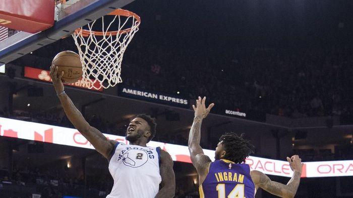 Golden State Warriors vs LA Lakers (Foto: Kyle Terada-USA TODAY Sports)