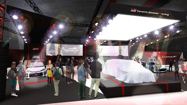 Gambaran booth Toyota di Tokyo Auto Salon 2018