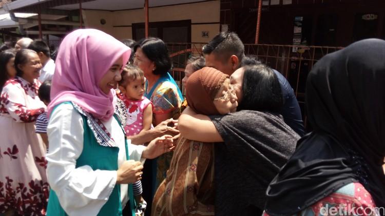 Silaturahmi Natal di Kampung Toleransi, Ambarawa, Senin (25/12/2017).