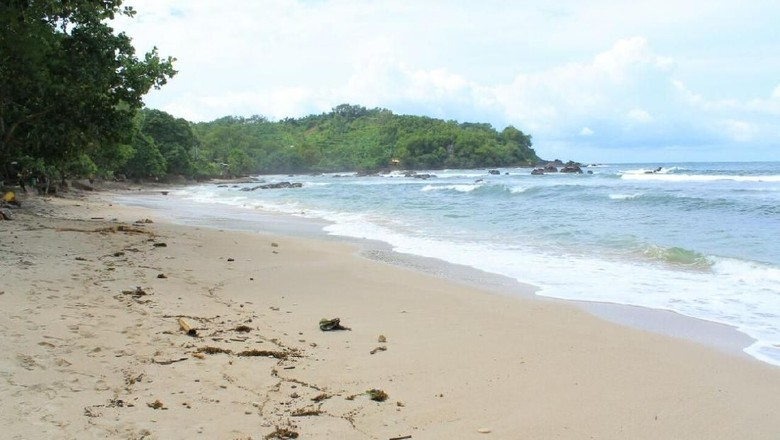 Foto: Kondisi terakhir Pantai Wediombo Gunungkidul (dok. Hary Sukmono/Istimewa)