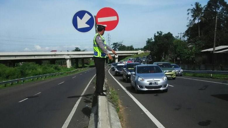Kondisi jalanan puncak Foto: Dok. Satlantas Polres Bogor