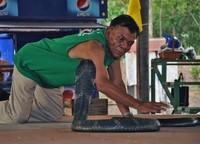 Salah satu atraksi yang terkenal di Ban Kok Sa-Nga dan masih ada hingga kini adalah tinju ular, tinju antara manusia dan ular. Dalam tinju ini, ular akan dibuat marah dan seorang priaakan masuk ke dalam ring untuk menjinakkannya. Semakin ular marah dan semakin sulit dijinakkan, tinju ular ini terlihat makin seru! (CNN)