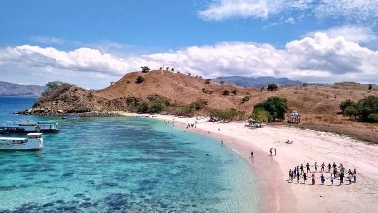 Pantai Pink di Pulau Komodo