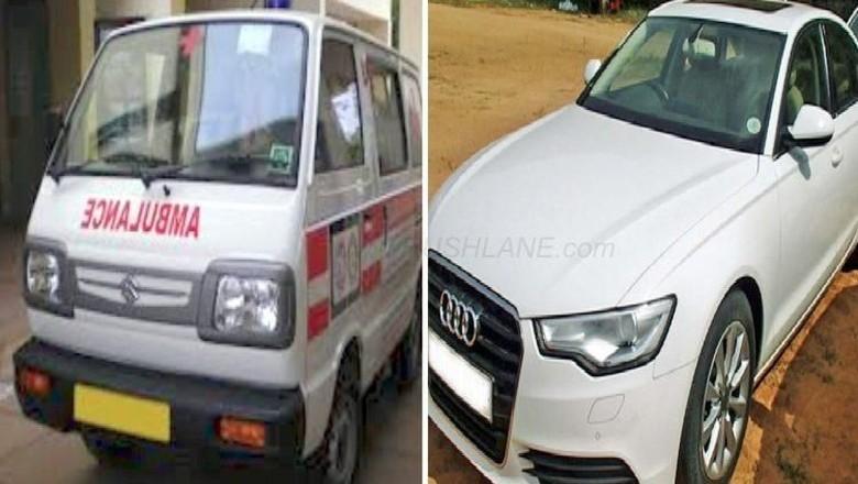 Pria Mabuk Ini Tak Bisa Bedakan Mobil Audi dan Ambulans Foto: Pool (Rushlane)