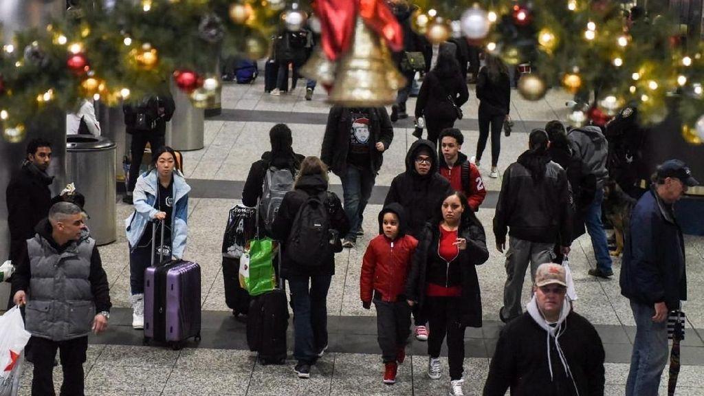 Foto: Begini Bule-Bule di New York Kalau Mudik Natal