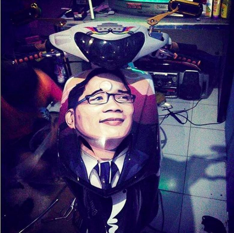 Modifikasi motor Ridwan Kamil Foto: Pool (Instagram)