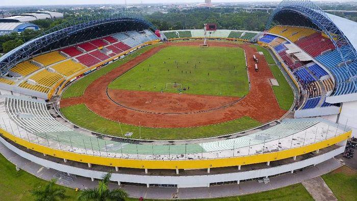 Stadion Gelora Sriwijaya jadi salah satu venue Asian Games 2018 di Palembang (Foto: Nova Wahyudi/Antara Foto)