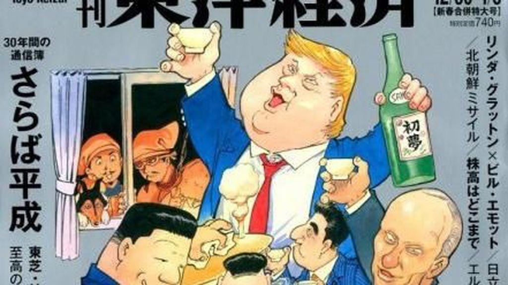 Ilustrasi Donald Trump Bareng Vladimir Putin hingga Xi Jinping