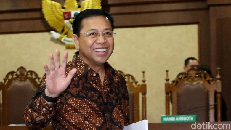 Kata Novanto soal Hilangnya Nama Politikus Lintas Parpol di Dakwaan