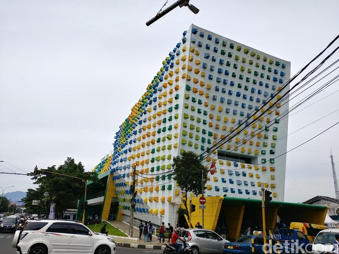 Gedung Bandung Creativ Hub di Jalan Laswi. (Foto: Tri Ispranoto/detikcom)
