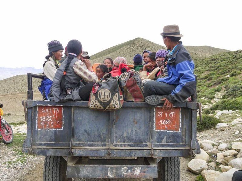 Suku Mustang tinggal di distrik Mustang yang terbagi dalam delapan desa. Masuk dalam kawasan Jomson, jaraknya sekitar 360 km dari Kathmandu (Eric Campbell/ABC Australia)