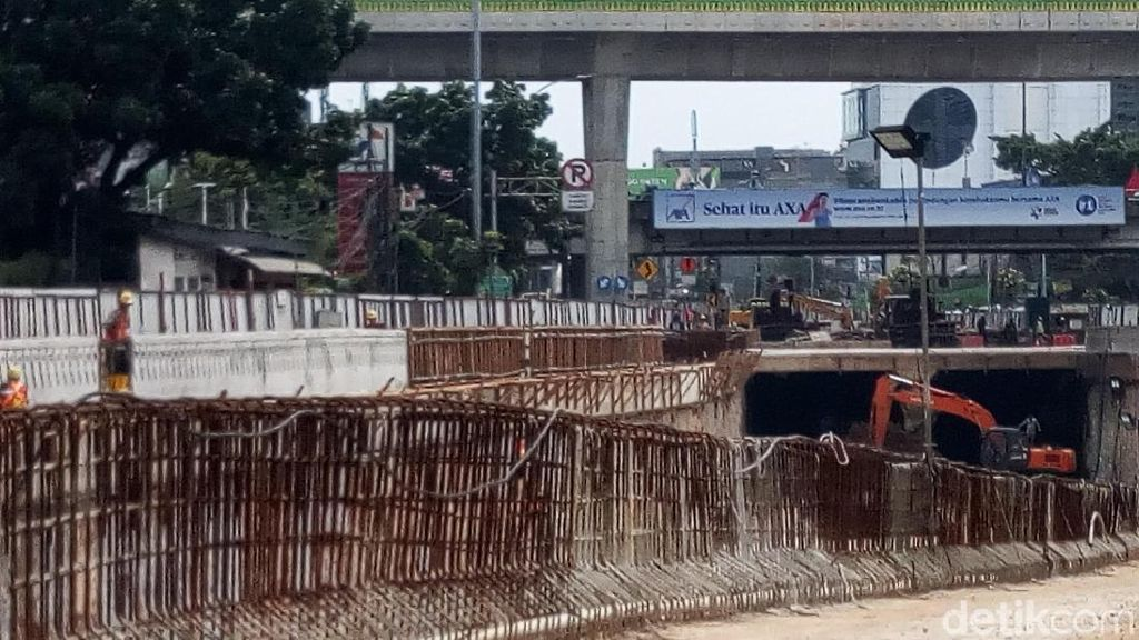 Mengintip Proyek Underpass Mampang-Kuningan Warisan Ahok