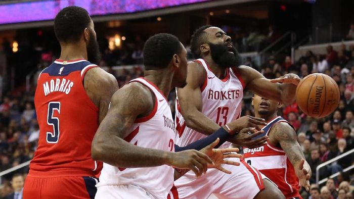Houston Rockets tumbang di kandang Washington Wizards (Geoff Burke-USA TODAY Sports)