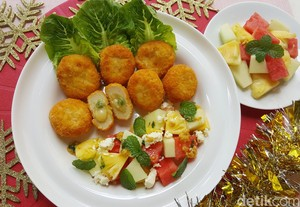 Resep Salad: <i/>Fruit Salad with Feta Cheese and Fiesta Mixed Vegetables</i>