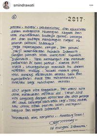 Surat Akhir Tahun Sri Mulyani