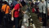 Pesta Tahun Baru Usai, Sampah Berserakan di Malioboro Yogya