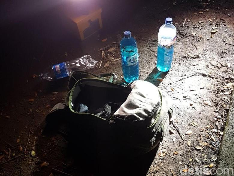 Penampakan Tas Ransel Terduga Pelempar Molotov di Mapolsek Bontoala