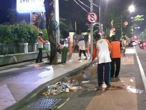 Sampah Malam Tahun Baru di Surabaya Capai 6,25 Ton