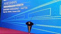 Jokowi Resmikan Kereta Bandara Soekarno-Hatta Pagi Ini