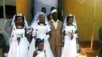 Pria Ini Gelar Pesta Pernikahan dengan Tiga Wanita di Hari yang Sama
