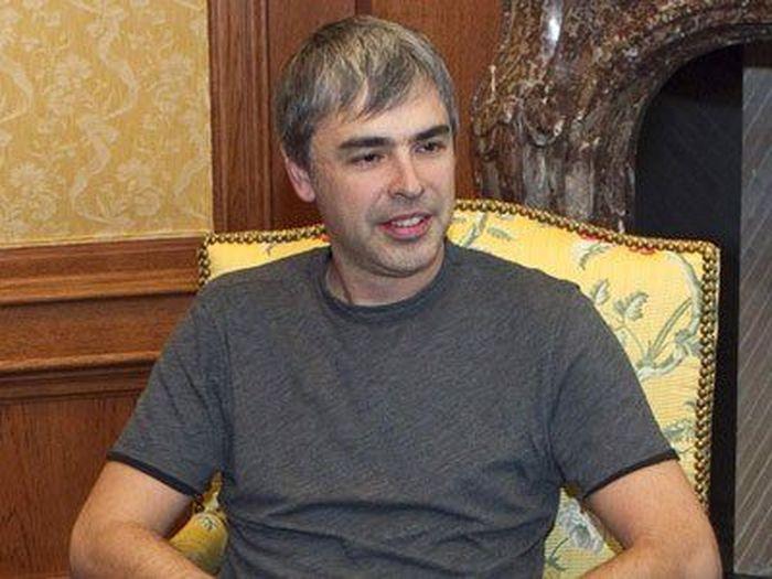Larry Page menempati urutan ke-10 daftar orang terkaya di dunia. Pendiri Alphabet (sebuah perusahaan mesin pencari seperti google) ini ditaksir memiliki kekayaan mencapai US$ 50,8 miliar atau setara dengan Rp 711,20 triliun. Istimewa.