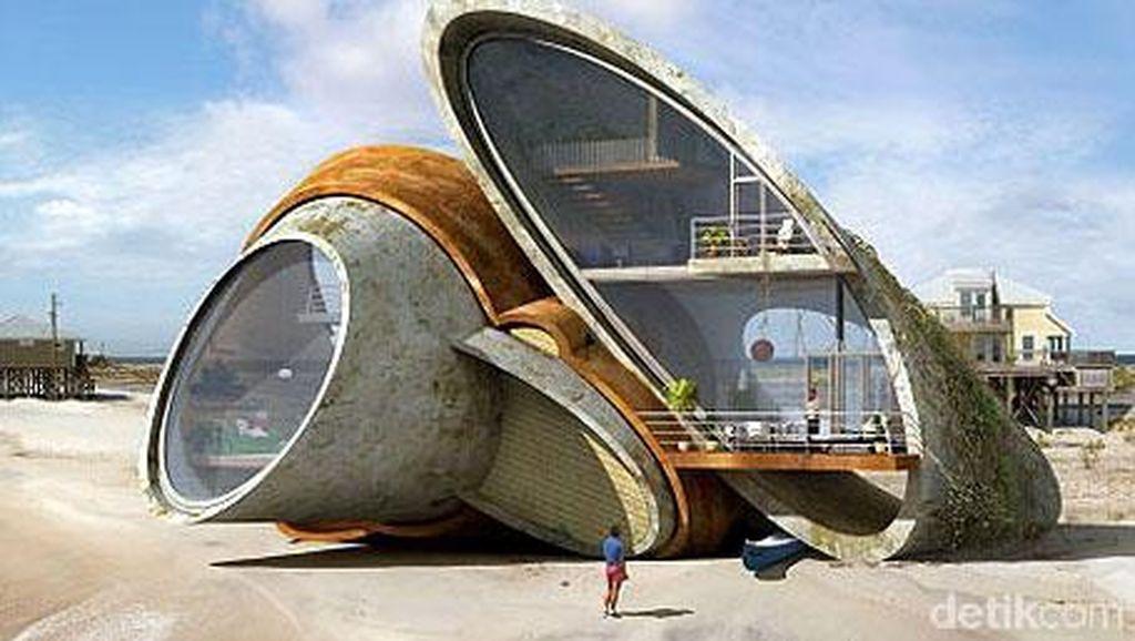 Rumah Tepi Pantai Ini Dibangun Tahan Badai