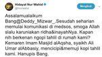 Twitwar Hidayat Nur Wahid vs Deddy Mizwar Soal Kontrak Politik