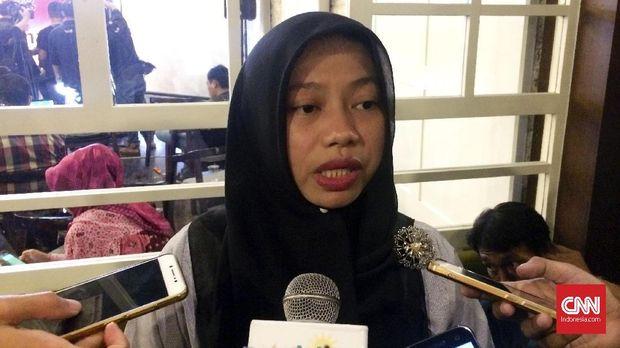 Direktur Eksekutif Perkumpulan untuk Pemilu dan Demokrasi (Perludem), Titi Anggraini usai menghadiri diskusi di Jakarta, Rabu (3/1).