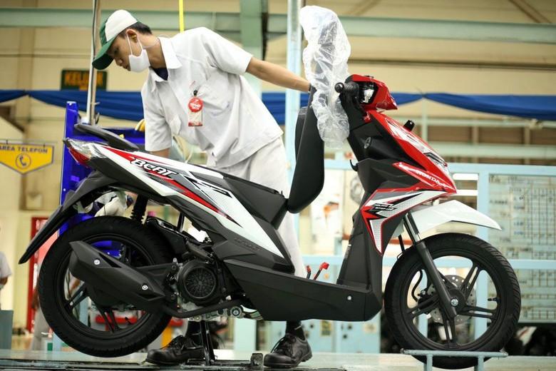 Honda BeAT jadi motor terlaris sepanjang semester I tahun 2018. Foto: Pool/AHM