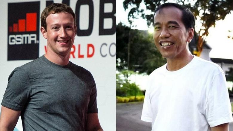 Disebut Niru Bos Facebook, Begini Gaya Jokowi dan Zuckerberg